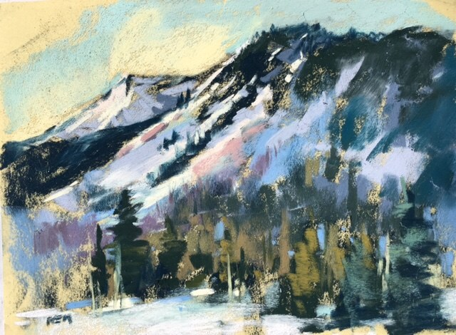 """Plein Air Painting in the Snow"" original fine art by Karen Margulis"