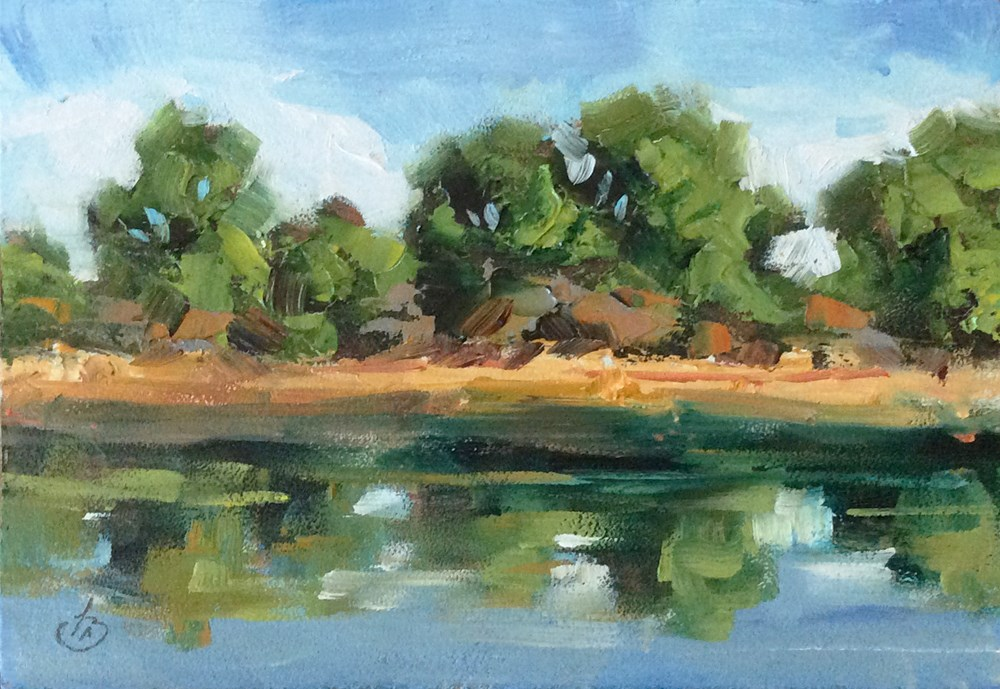 """EDGE OF THE LAKE"" original fine art by Tom Brown"