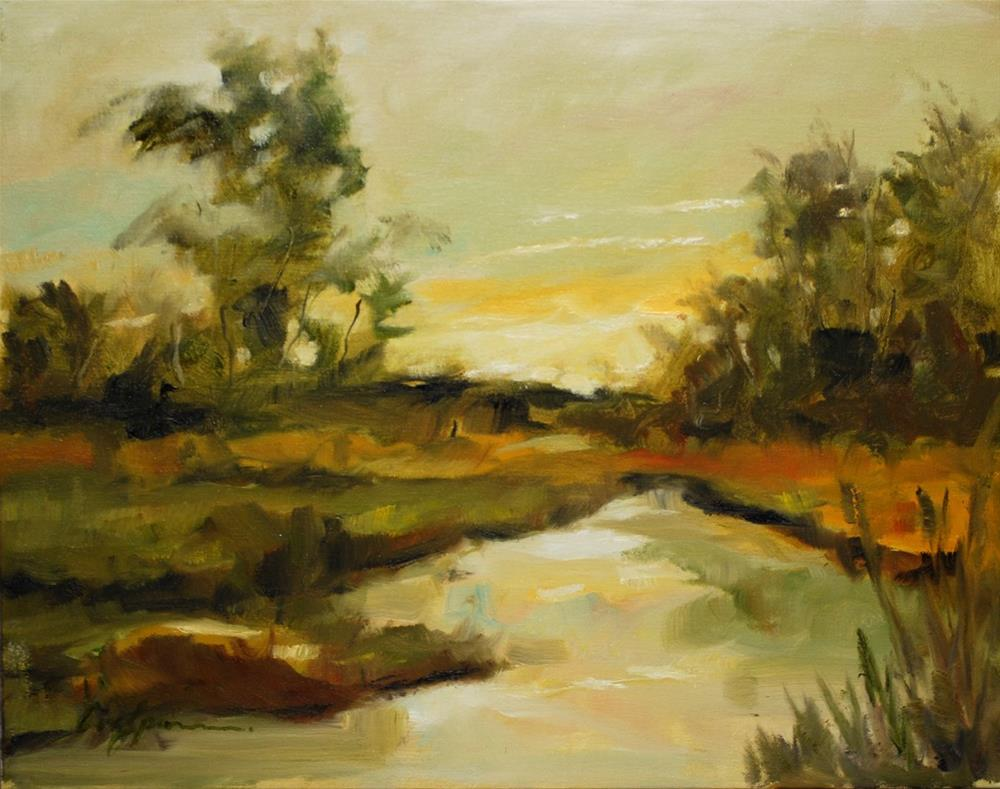 """Walking to Dusk"" original fine art by Cornelis vanSpronsen"