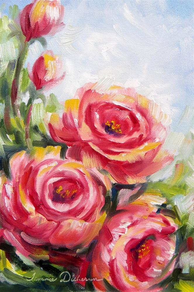 """""""Rose Rhapsody"""" original fine art by Tammie Dickerson"""