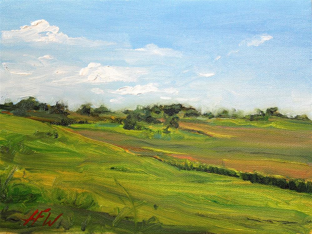 """""""The View from the Upper Pasture"""" original fine art by H.F. Wallen"""