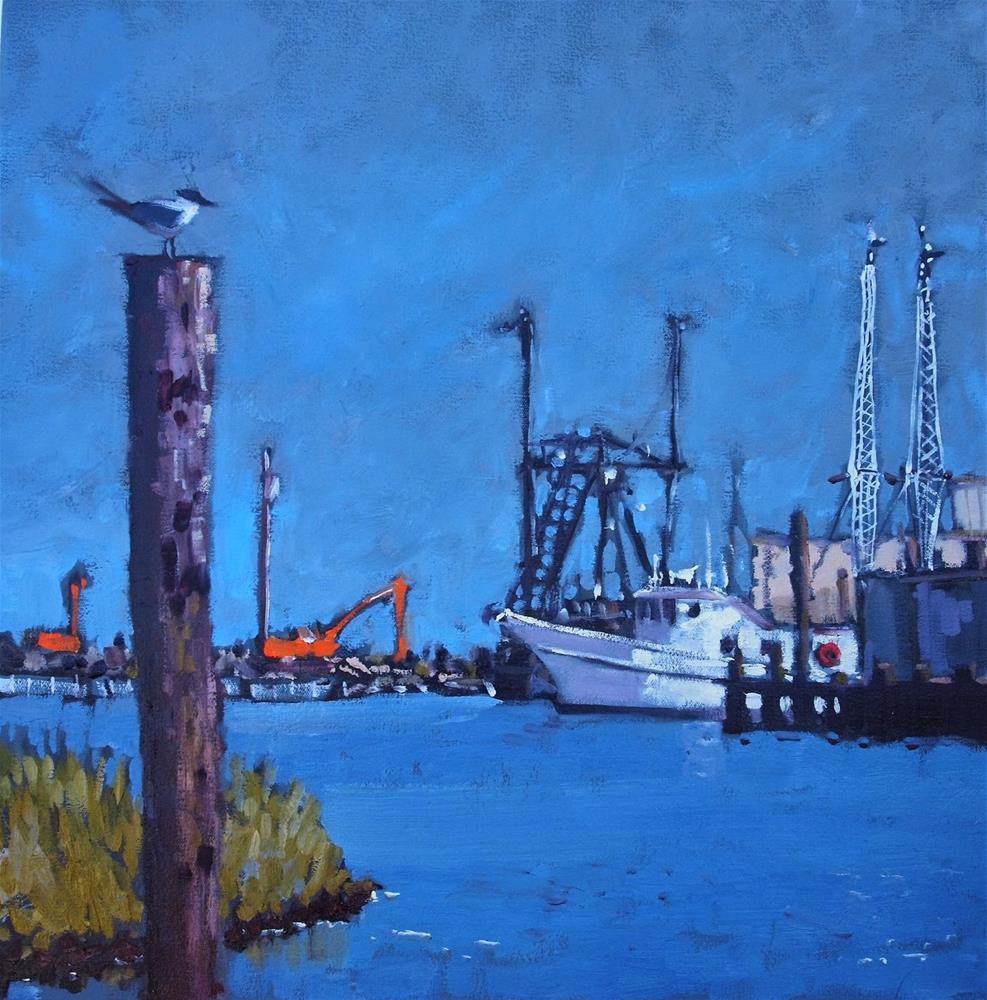 """Wanchese Harbour"" original fine art by Rick Nilson"