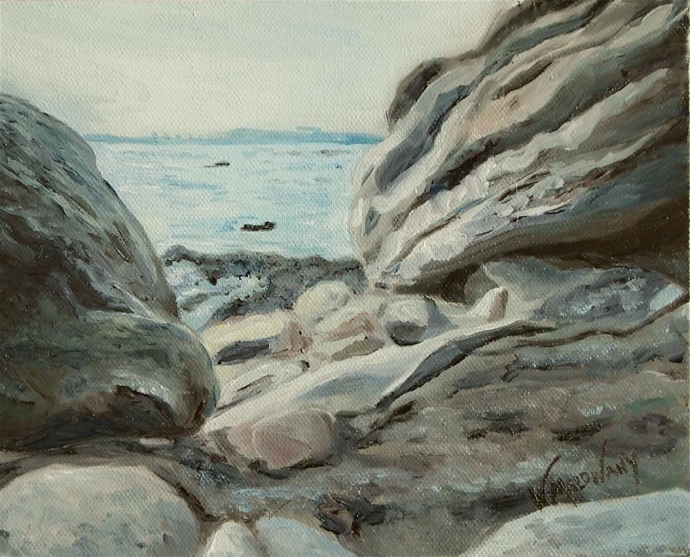 """Pelee Rock View"" original fine art by Wendy Malowany"