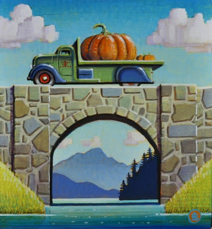 """""""Prize Pumpkin"""" original fine art by Robert LaDuke"""