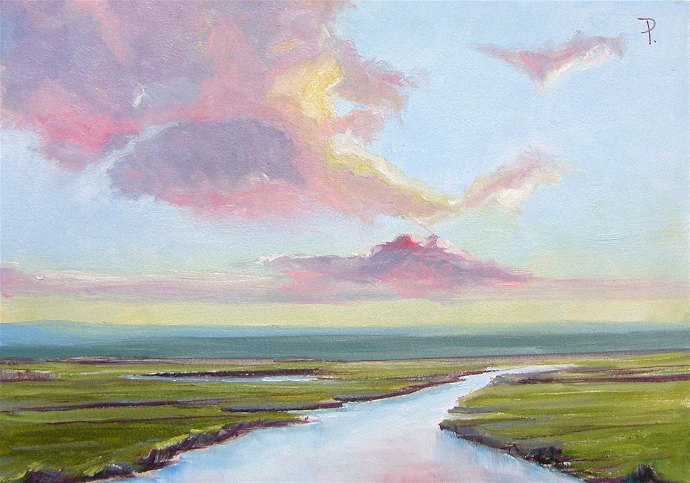 """Sprint Sunrise Daily Painting"" original fine art by Dianna Poindexter"