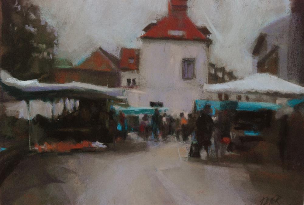 """Friday Market"" original fine art by Margaret Dyer"