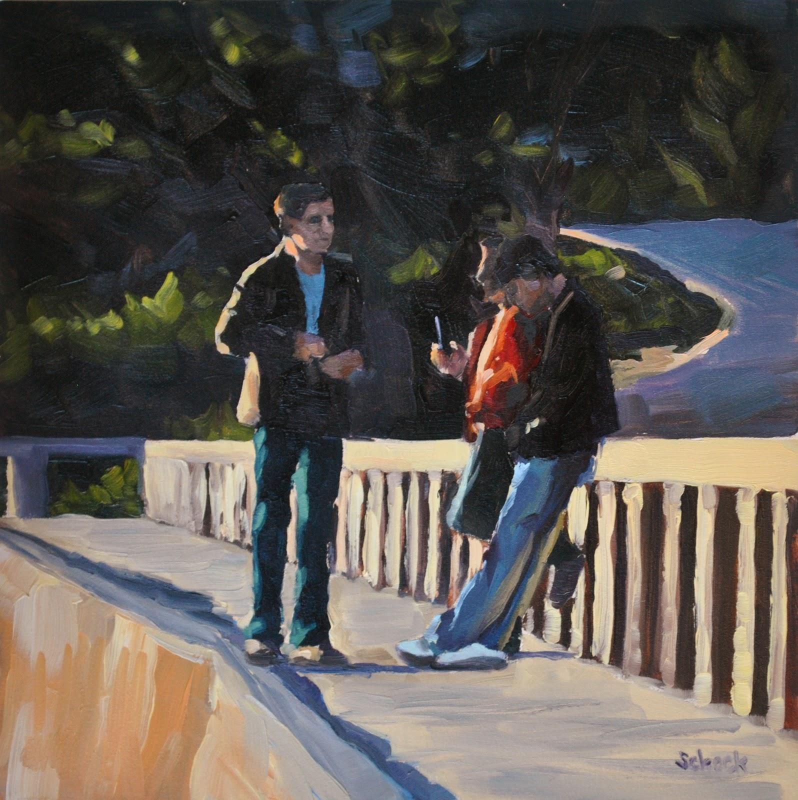 """Biltmore Wall II - 6x6"" original fine art by Sharon Schock"