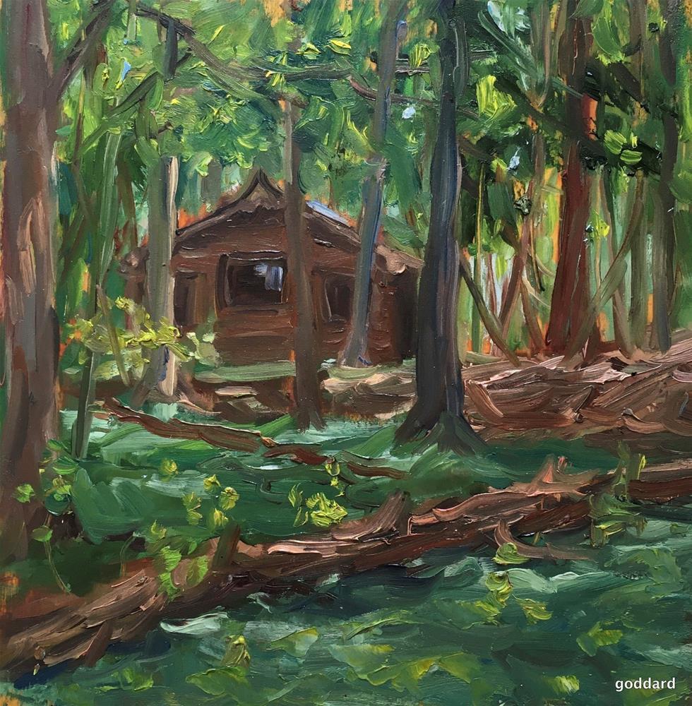 """""""Sleeping Cabin"""" original fine art by Shari Goddard Shambaugh"""