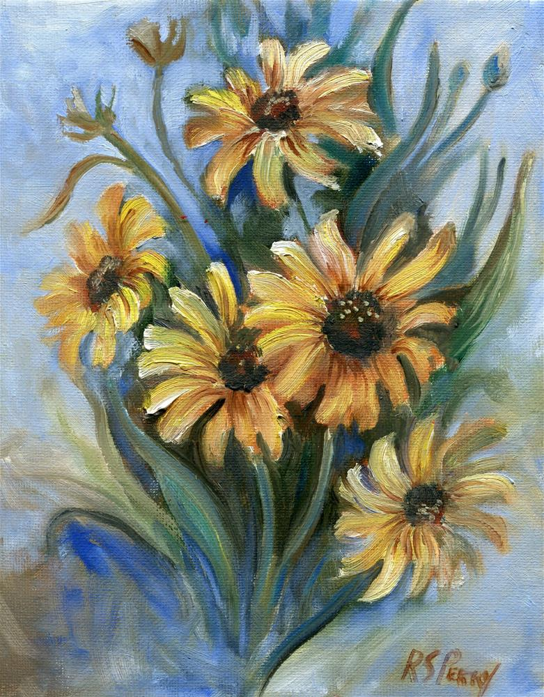 """Brown-eyed Susan "" original fine art by R. S. Perry"