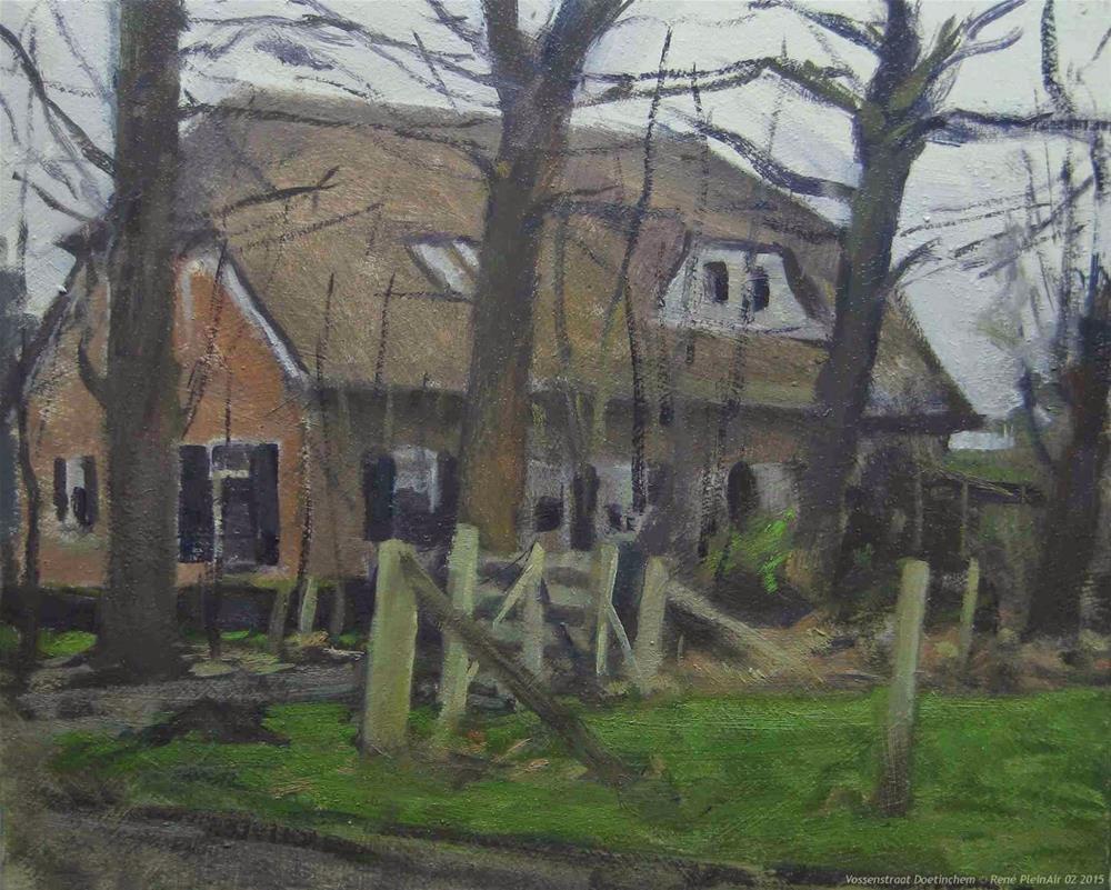 """""""Vossenstraat Doetinchem The Netherlands"""" original fine art by René PleinAir"""