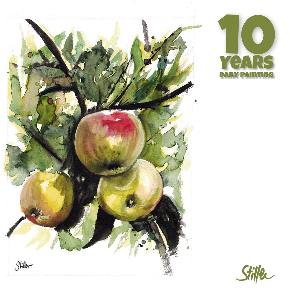 """3663 Apple Tree II"" original fine art by Dietmar Stiller"