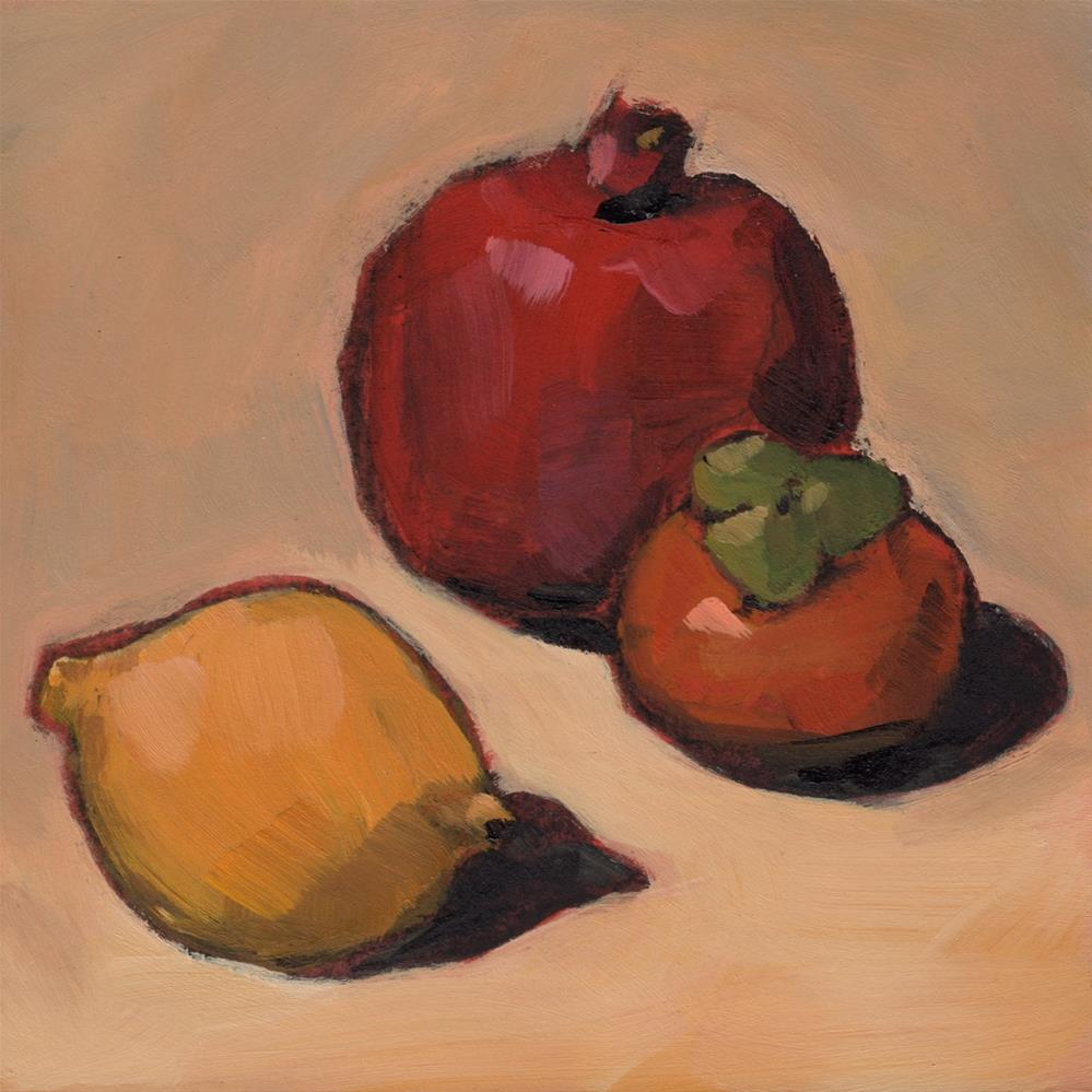 """0265: Three Fruits"" original fine art by Brian Miller"