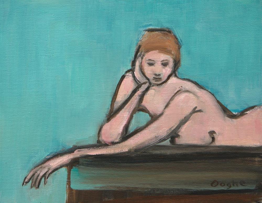 """Nude on Aqua"" original fine art by Angela Ooghe"