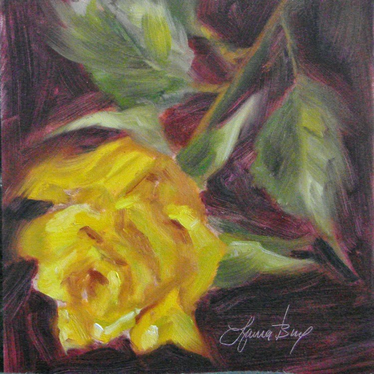 """Rosebud - 335"" original fine art by Laura  Buxo"
