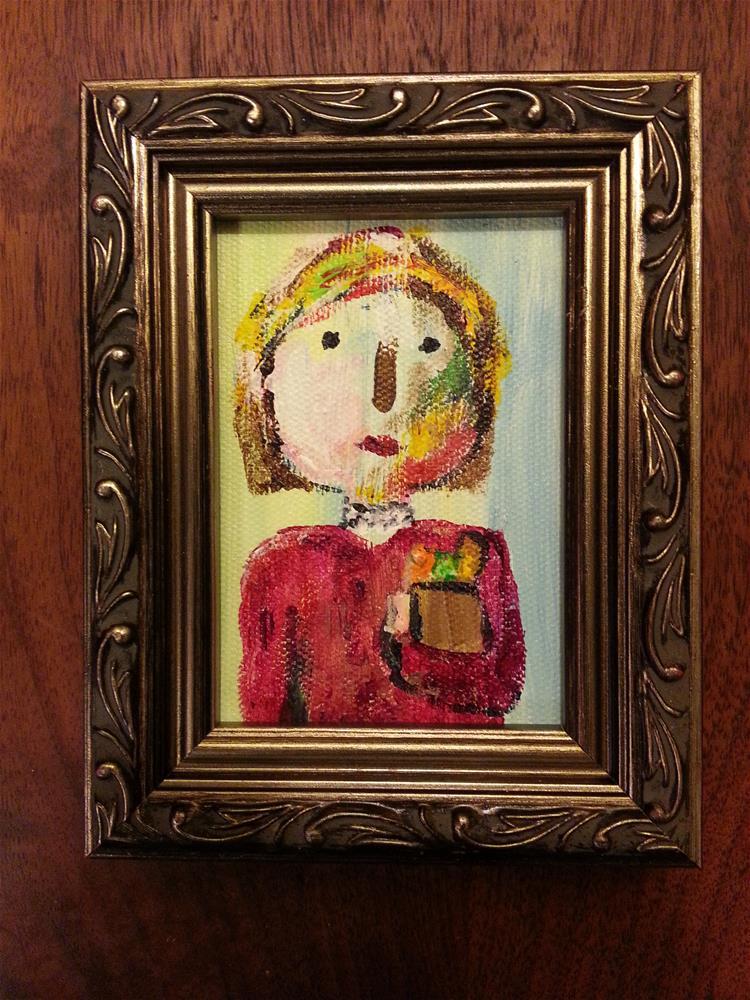 """Mini Marcie's Aunt"" original fine art by Jo Allebach"