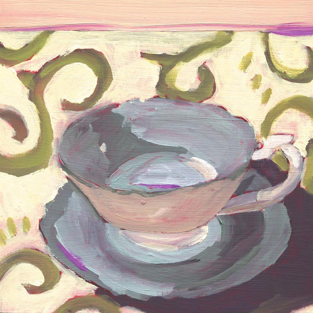 """Earl Gray Morning (#462)"" original fine art by Debbie Miller"