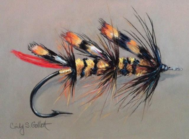 """""""Fly 10 - Jungle Hornet"""" original fine art by Cindy Gillett"""