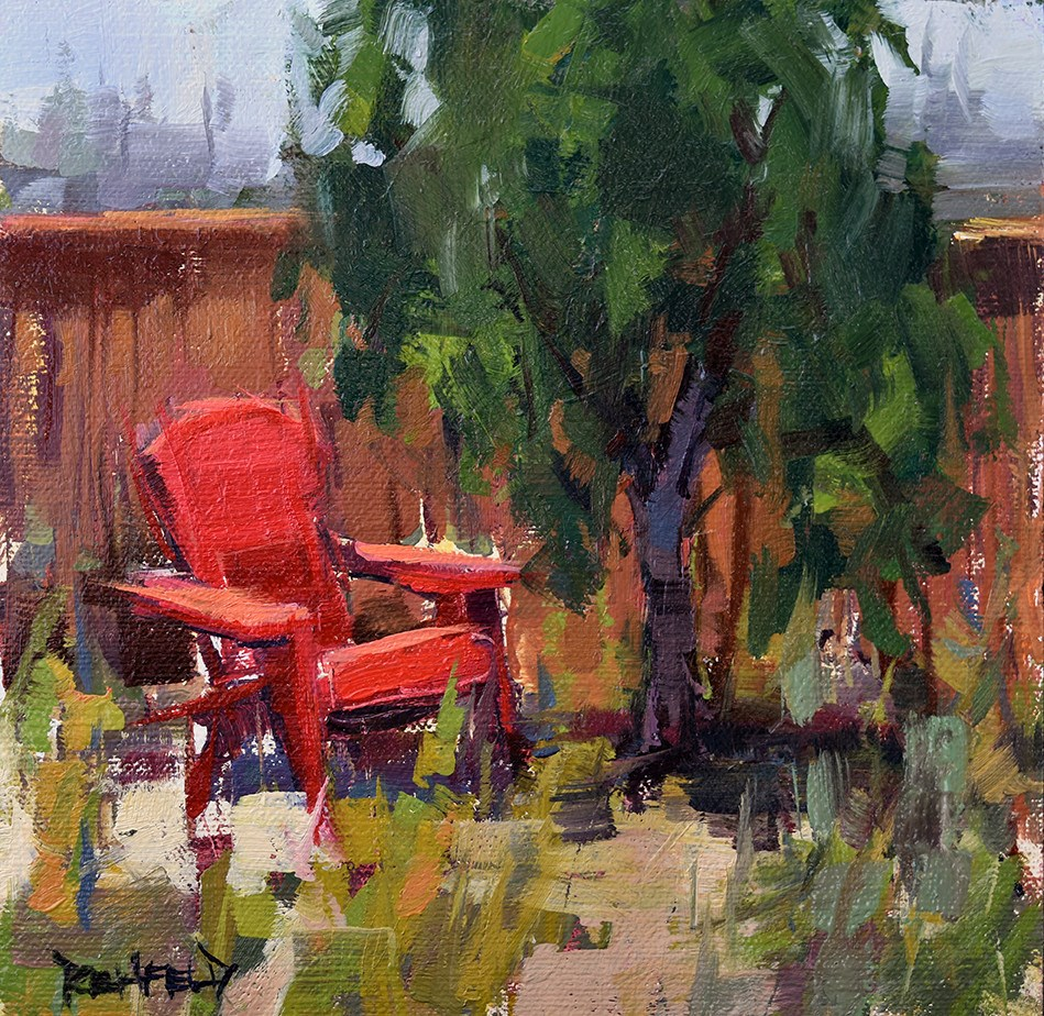 """""""The Red Chair"""" original fine art by Cathleen Rehfeld"""