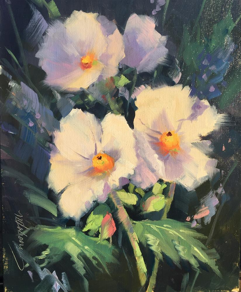 """""""Prickly Poppies"""" original fine art by Mary Jabens"""