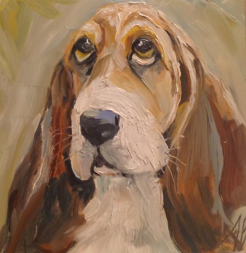 """Look of the Bassett"" original fine art by Annette Balesteri"