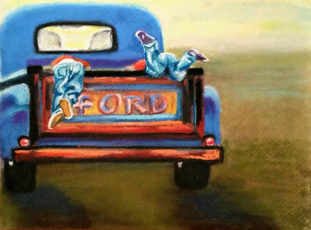 """WAIT!"" original fine art by Dana C"