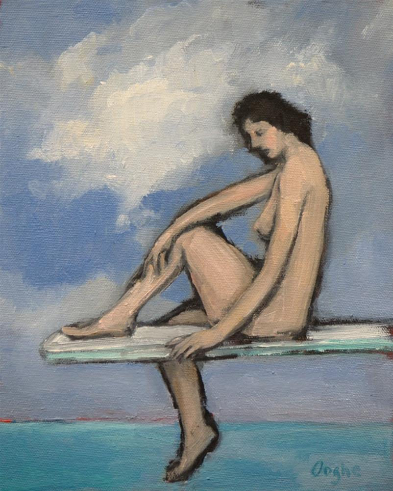 """""""Nude on Diving Board 2"""" original fine art by Angela Ooghe"""