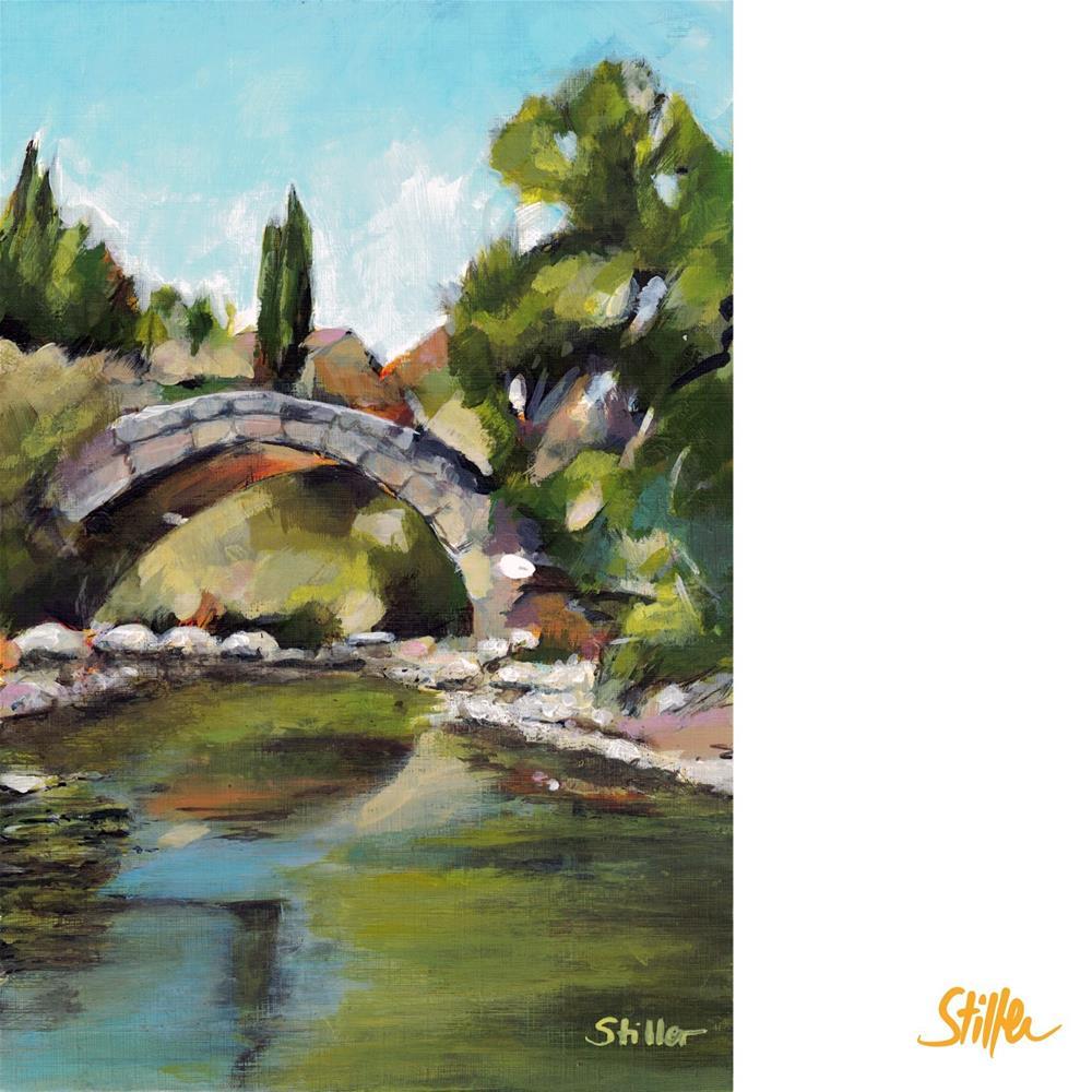 """3503 Skarfos Brücke"" original fine art by Dietmar Stiller"
