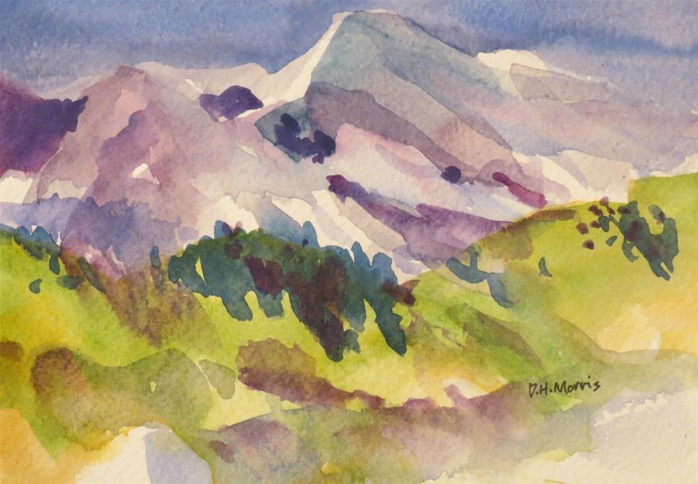 """Mountain View"" original fine art by Dann Morris"