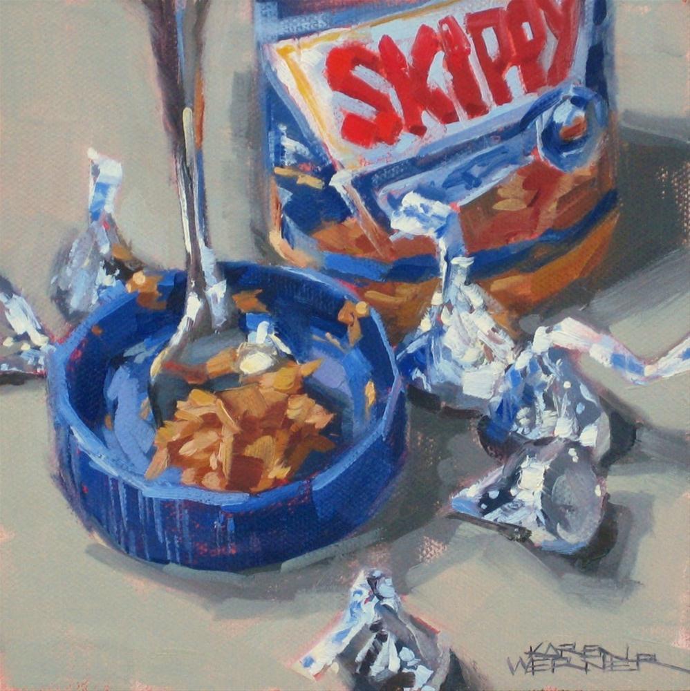 """""""Peanut Butter Kisses"""" original fine art by Karen Werner"""