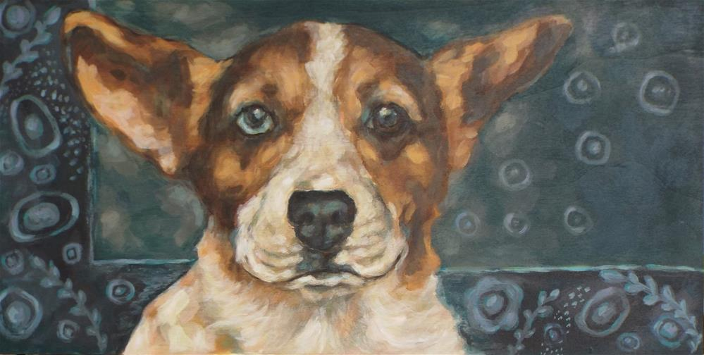 """Corgi"" original fine art by Kathy Hiserman"