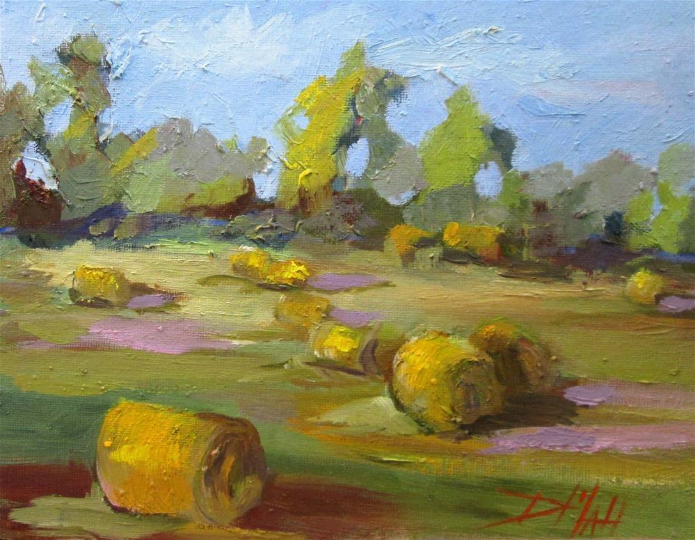 """Fresh Hay"" original fine art by Delilah Smith"