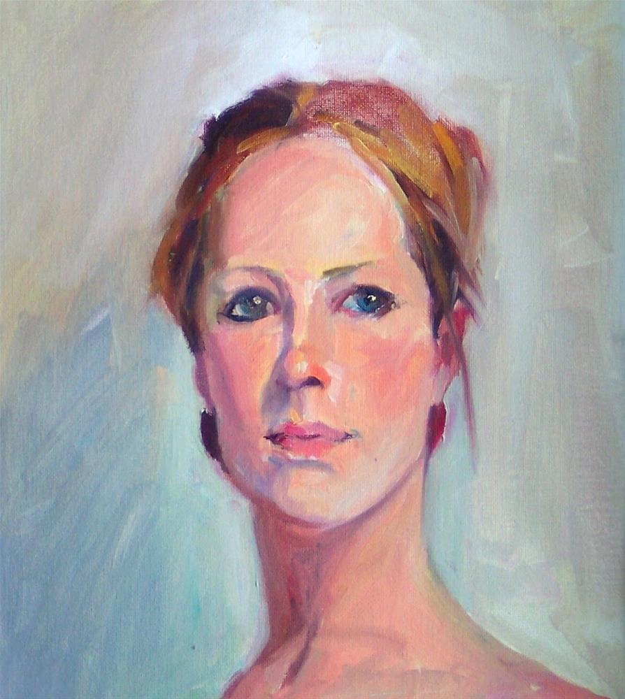 """Portrait of Erin,portrait,oil on canvas,16x12,priceNFS"" original fine art by Joy Olney"