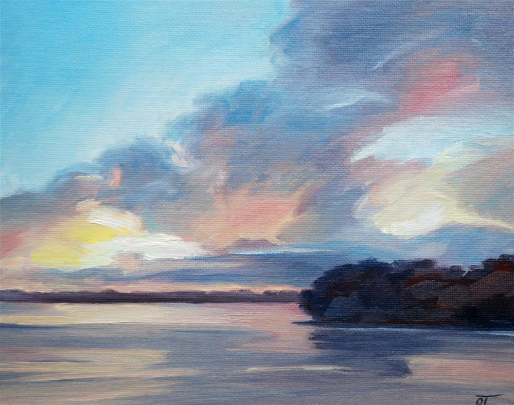 """""""Florida sunset"""" original fine art by Olga Touboltseva-Lefort"""