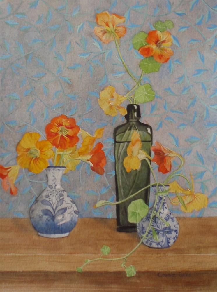"""""""Nasturtiums"""" original fine art by Carole Baker"""
