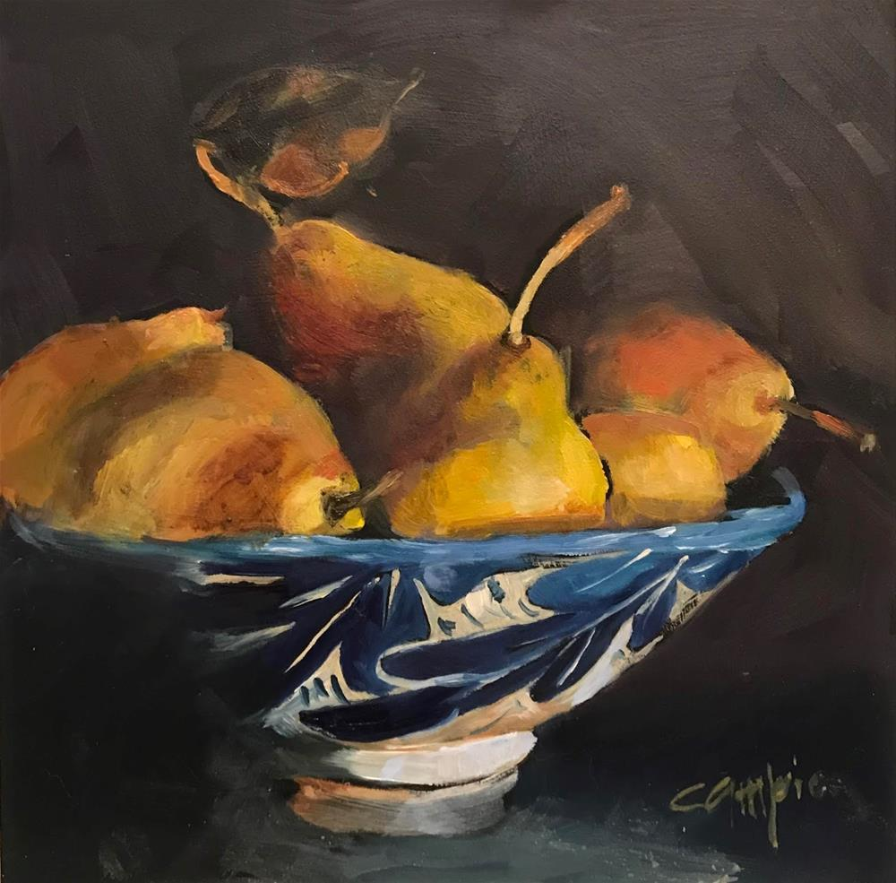"""941 Golden Pears"" original fine art by Diane Campion"