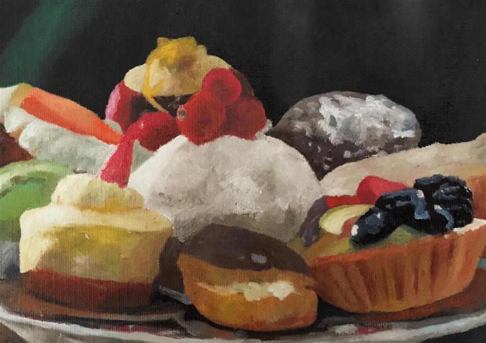 """Cakes On A Plate"" original fine art by John Cameron"