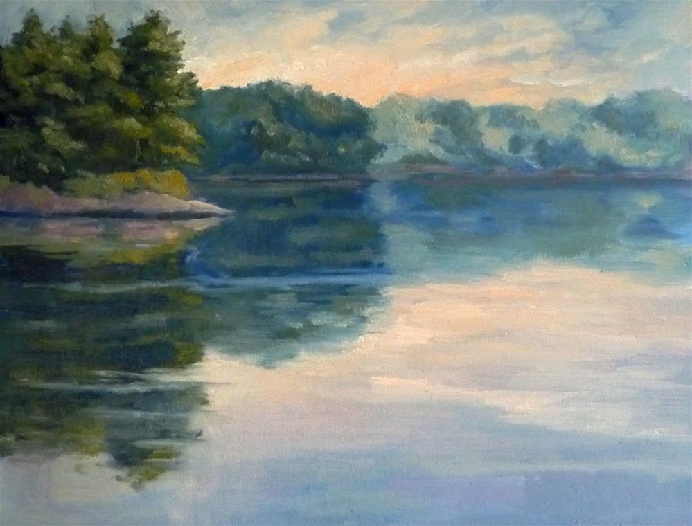 """Morning on the Water"" original fine art by Lisa Kyle"