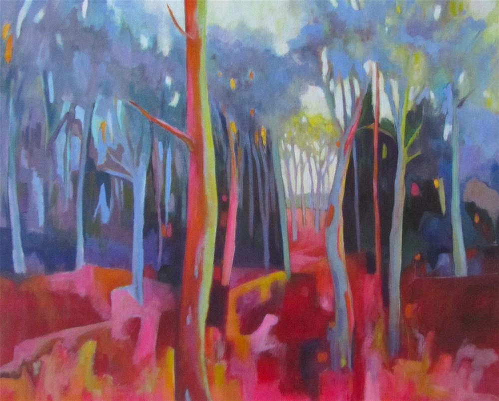 """Arcadia Abstract"" original fine art by Patricia MacDonald"