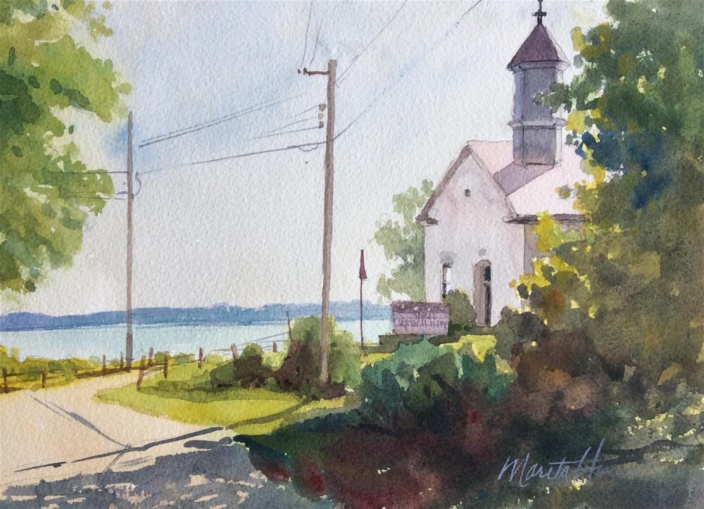 """Old Church On the Susquehanna"" original fine art by Marita Hines"