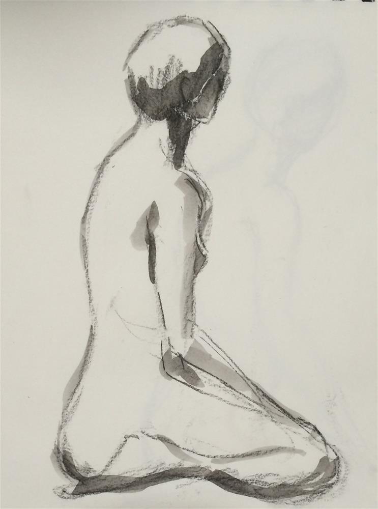 """Girl-5-"" original fine art by Naomi Bautista"