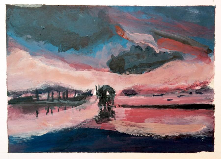 """""""1777 Four Skies (3)"""" original fine art by Dietmar Stiller"""
