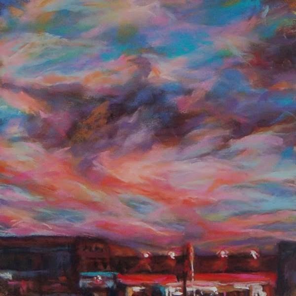 """FLIGHT OF COLORS - 9 x 9 pastel by Susan Roden"" original fine art by Susan Roden"