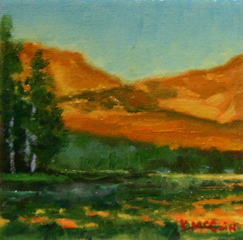 """""""Evening Gold"""" original fine art by K.R. McCain"""