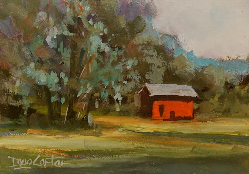""" RED SHED "" original fine art by Doug Carter"