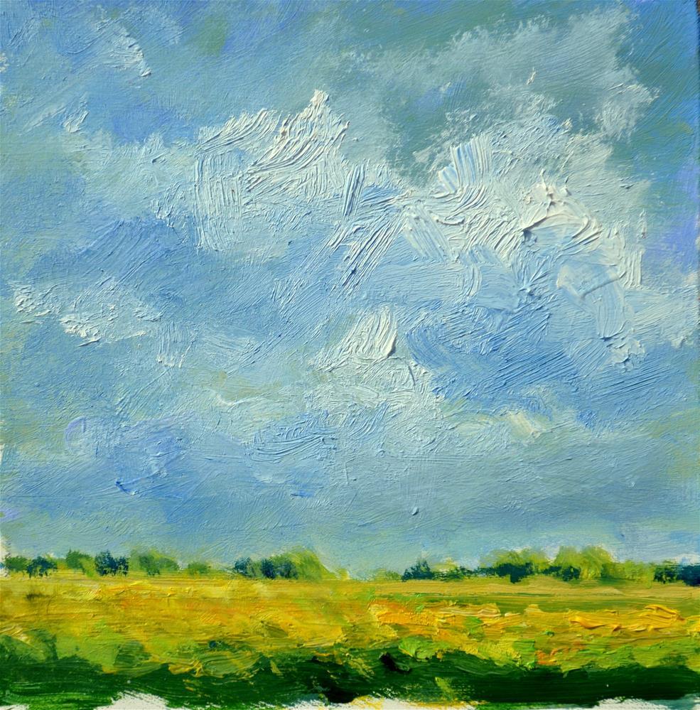 """Coleseedfields in oil"" original fine art by Wim Van De Wege"