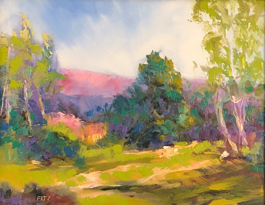 """Impasto Landscape Study 2"" original fine art by Charlotte Fitzgerald"