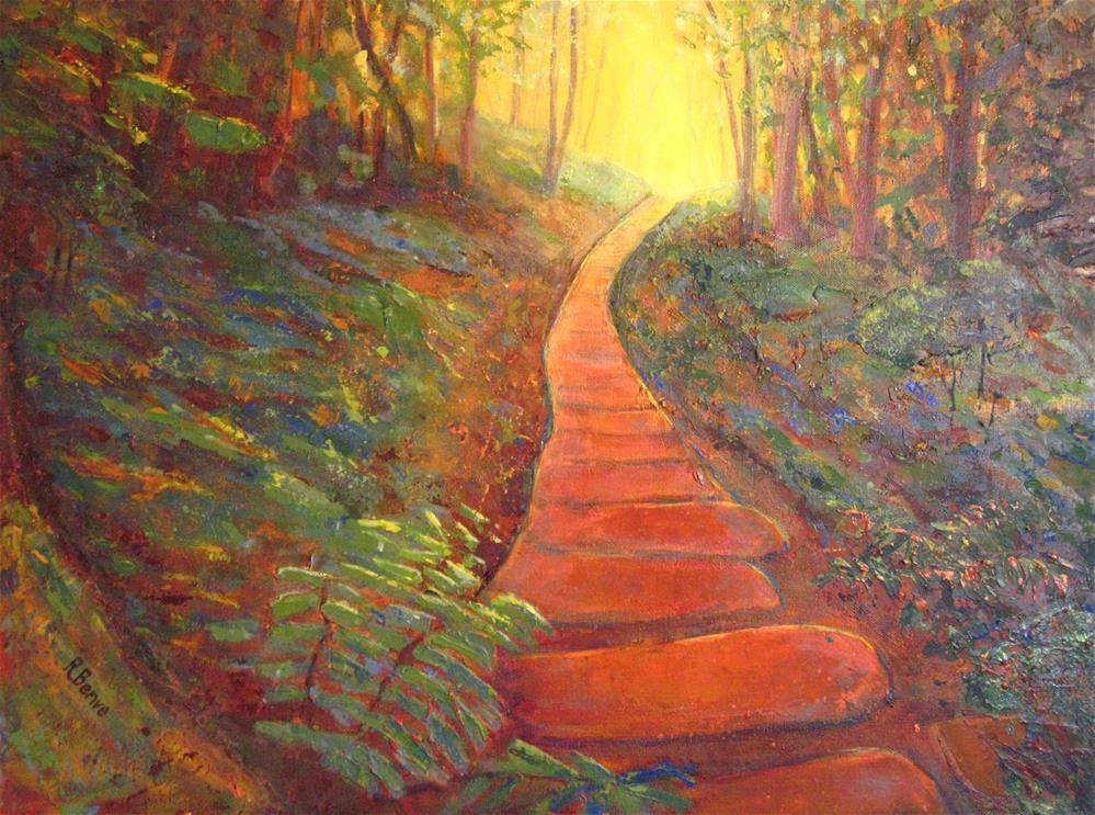 """""""Towards the Light"""" original fine art by Robie Benve"""
