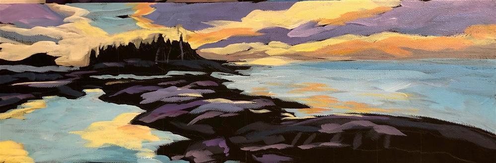 """Sunrise Highlights"" original fine art by Kat Corrigan"