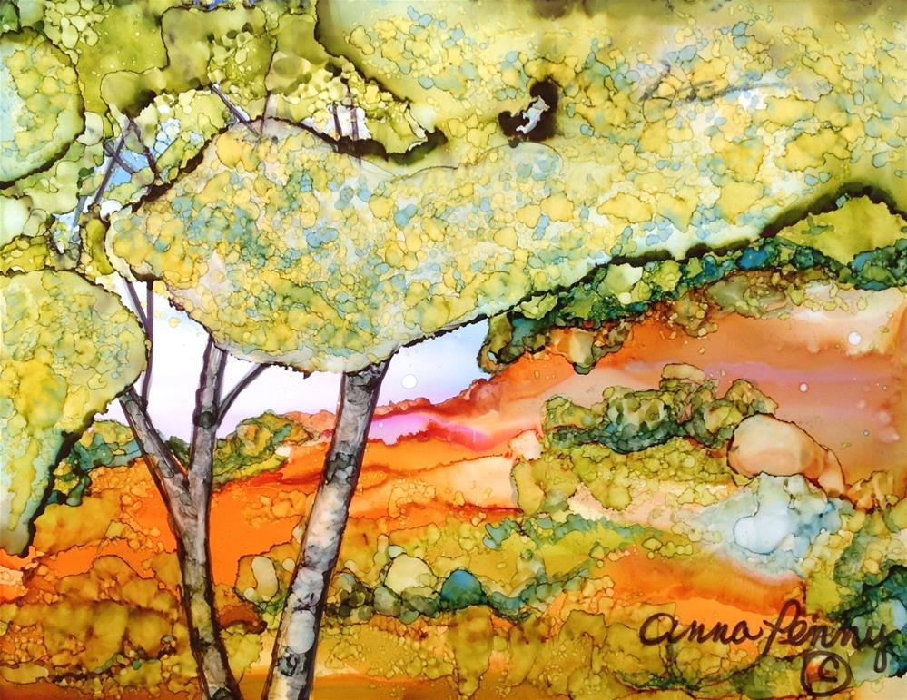 """Birch Trees"" original fine art by Anna Penny"