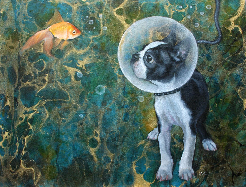 """The Explorer"" original fine art by Clair Hartmann"